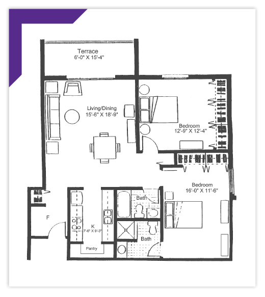Two Bedroom - Type 2 Apartment