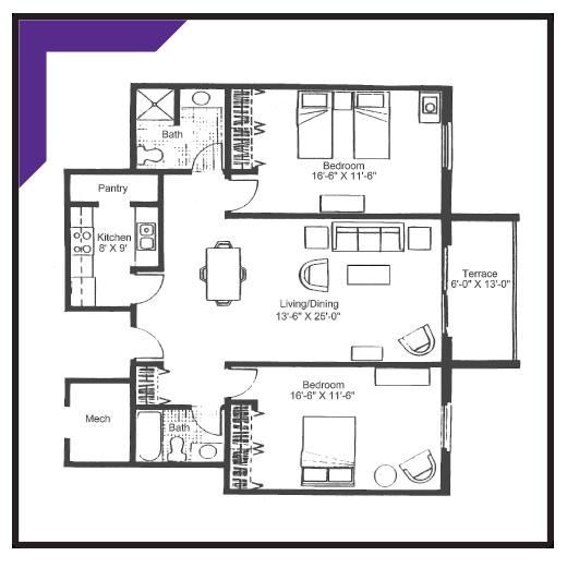 Two Bedroom - Type 4 Apartment