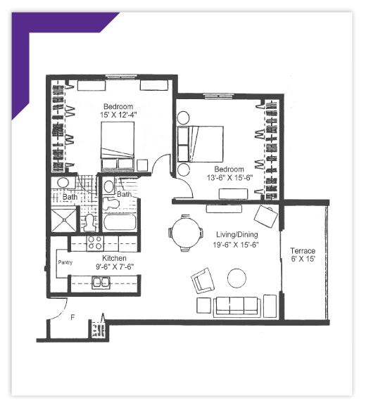 Two Bedroom - Type 6 Apartment