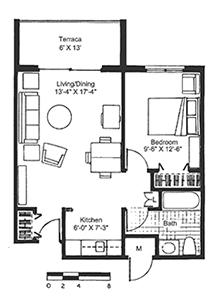 Assisted Living Apartment Floorplan